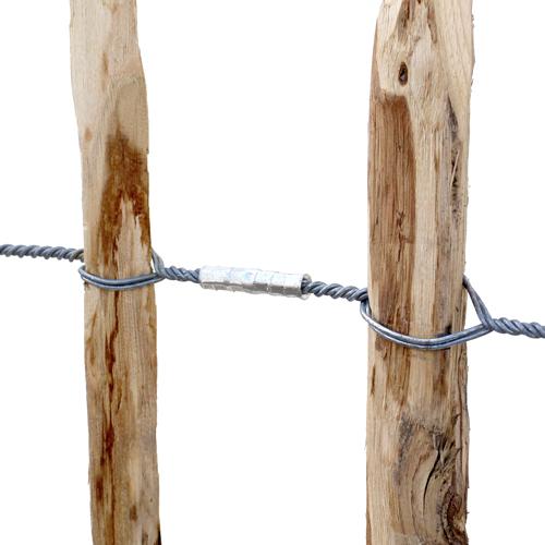 Zaun-Presshülsen zum Verbinden von Drahtenden eines Staketenzauns