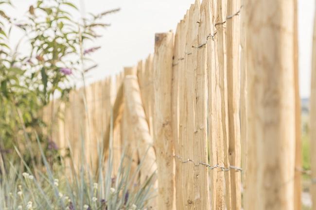 Kastanienholz für die Staketenzäune aus nachhaltiger Forstwirtschaft