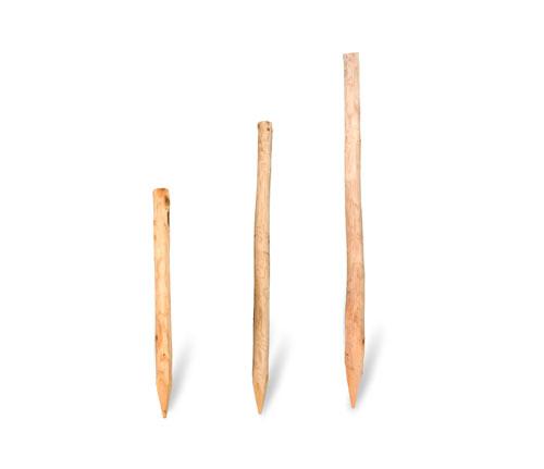 Kastanienholzpfähle für Staketenzäune
