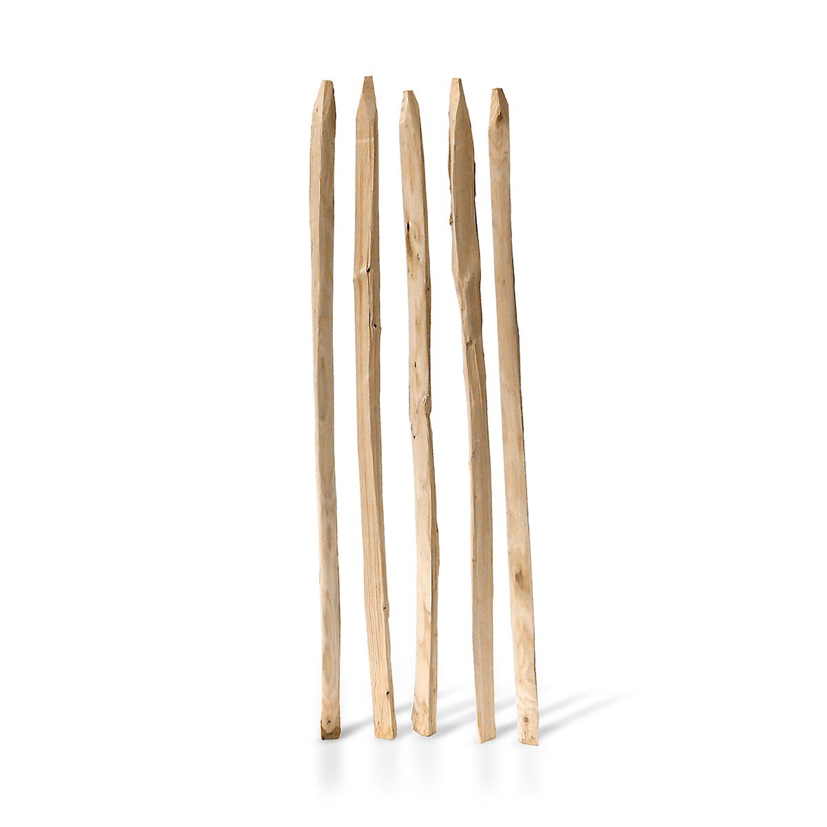 Einzelstakete aus Kastanienholz in verschiedenen Höhen erhältlich