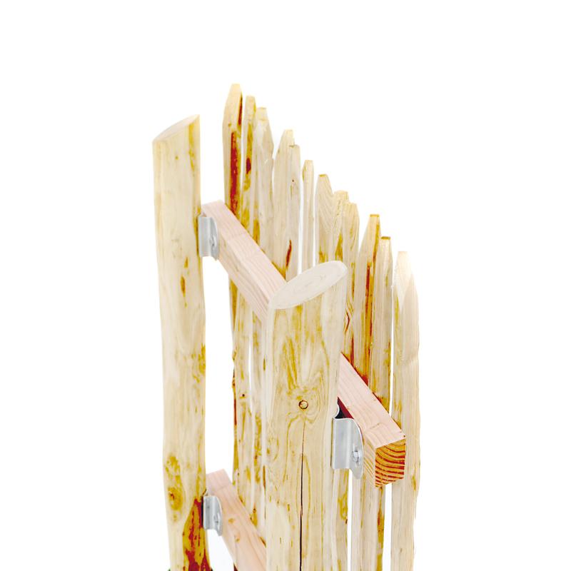 Querriegel aus Lärchenholz sind bestens als Trägermaterial Naturzäune geeignet.