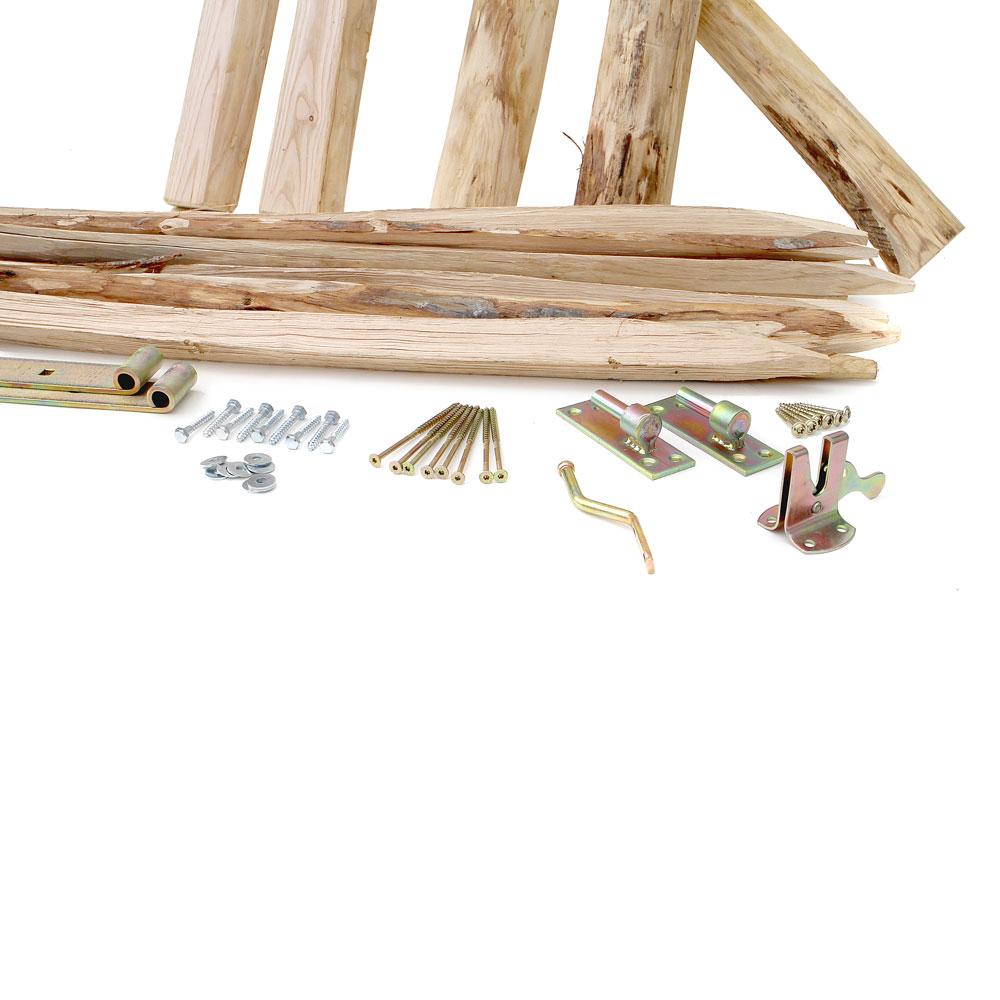 Bausatz für ein Gartentor Classic aus Staketen